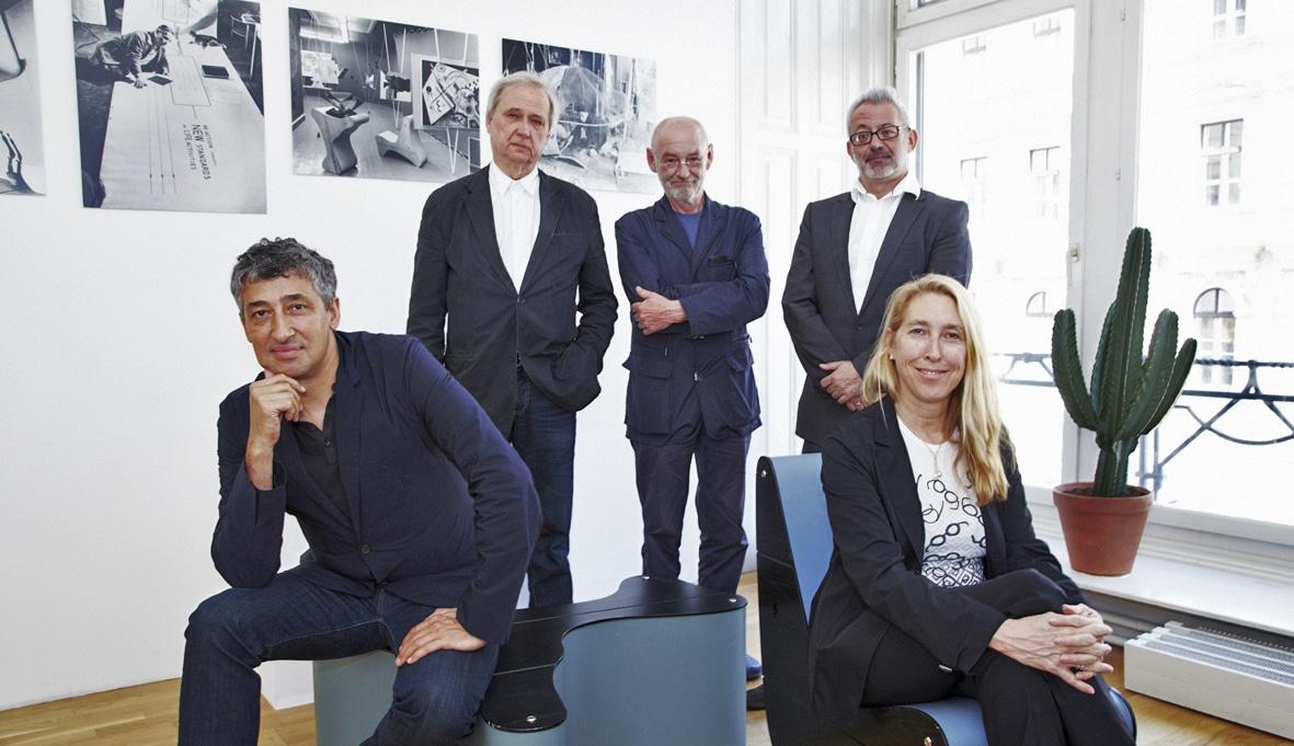 Kiesler-Preis-Jury 2012 (von links nach rechts): Hani Rashid, Hermann Czech, Dietmar Steiner, Bartomeu Marí, Lisa Phillips