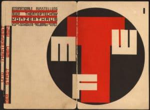 """Katalog zur """"Internationalen Ausstellung neuer Theatertechnik"""", gestaltet von Friedrich Kiesler, Wien 1924"""