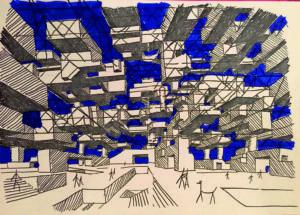 Yona Friedman, Ville Spatiale, 1963, Courtesy Yona Friedman